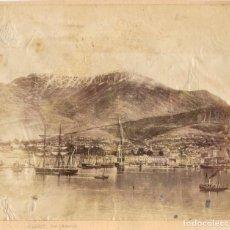Fotografía antigua: 1880'S CA FOTOGRAFÍA ALBÚMINA HOBART PUERTO DE TASMANIA. OCEANÍA. Lote 154864510