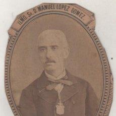 Fotografía antigua: MANUEL LÓPEZ GÓMEZ RECTOR DE LA UNIVERSIDAD DE DERECHO DE VALLADOLID. Lote 154939614