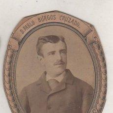 Fotografía antigua: PABLO BURGOS CRUZADO NACIDO EN NAVA DEL REY , ESTUDIANTE UNIVERSIDAD DE DERECHO DE VALLADOLID. Lote 154942970