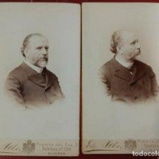 Fotografía antigua: RETRATOS DE FAMILIA ALBACETE GIL Y ZÁRATE PODRÍA SER EL SUEGRO DE FRANCISCO ACEBAL LOPEZ. DEBAS. Lote 155143250