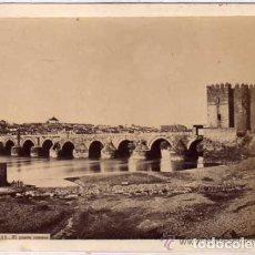 Fotografía antigua: CÓRDOBA.311. EL PUENTE ROMANO. LAURENT. ALBÚMINA. Lote 155376302
