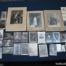 Fotografía antigua: INTERESANTE LOTE DE MÁS DE 30 FOTOGRAFÍAS ANTIGUAS ESPAÑOLAS. RETRATOS . Lote 155430686