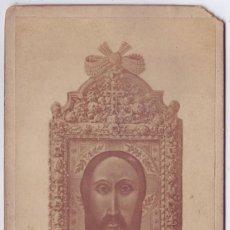 Fotografía antigua - Fotografía en Albúmina de Jaén: Santo Rostro. Gabinete Fotográfico de Ángel Martos - 155470562