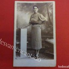 Fotografía antigua: ANTIGUA FOTO ALBUMINA 14 X 9 CTMS. STUDIO FOTOGRÁFICO CHINCHILLA. TARRAGONA. Lote 155800602