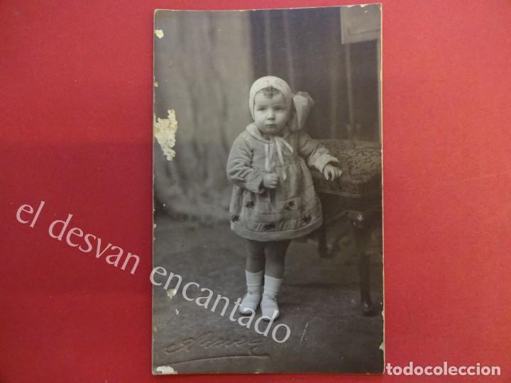 ANTIGUA FOTO ALBUMINA 14 X 9 CTMS. AMER FOTÓGRAFO (Fotografía Antigua - Albúmina)