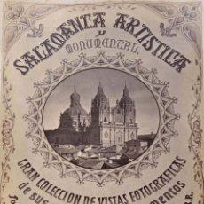 Fotografía antigua: SALAMANCA.- ARTISTICA Y MONUMENTAL 34 ABÚMINAS DEL FOTOGRAFO PEDRO MARTÍNEZ DE HEBERT. 32 X 25,5 CM. Lote 155927306