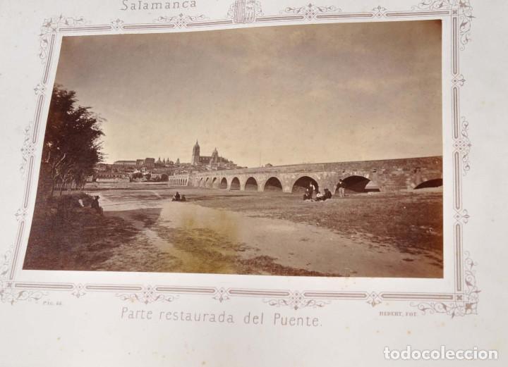 Fotografía antigua: SALAMANCA.- ARTISTICA Y MONUMENTAL 34 ABÚMINAS DEL FOTOGRAFO PEDRO MARTÍNEZ DE HEBERT. 32 X 25,5 CM - Foto 7 - 155927306
