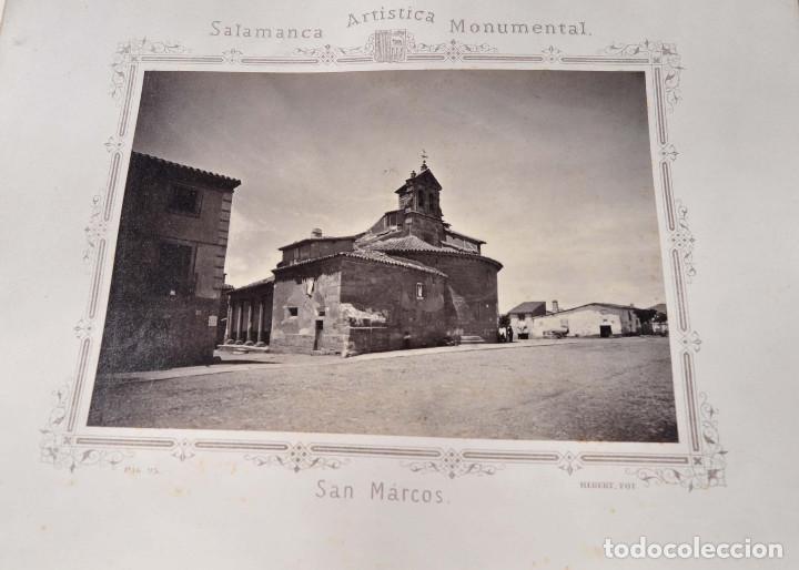 Fotografía antigua: SALAMANCA.- ARTISTICA Y MONUMENTAL 34 ABÚMINAS DEL FOTOGRAFO PEDRO MARTÍNEZ DE HEBERT. 32 X 25,5 CM - Foto 8 - 155927306