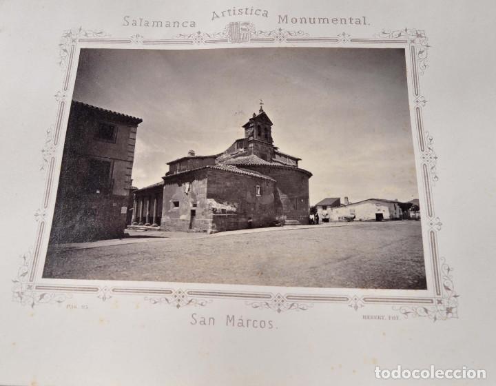 Fotografía antigua: SALAMANCA.- ARTISTICA Y MONUMENTAL 34 ABÚMINAS DEL FOTOGRAFO PEDRO MARTÍNEZ DE HEBERT. 32 X 25,5 CM - Foto 9 - 155927306