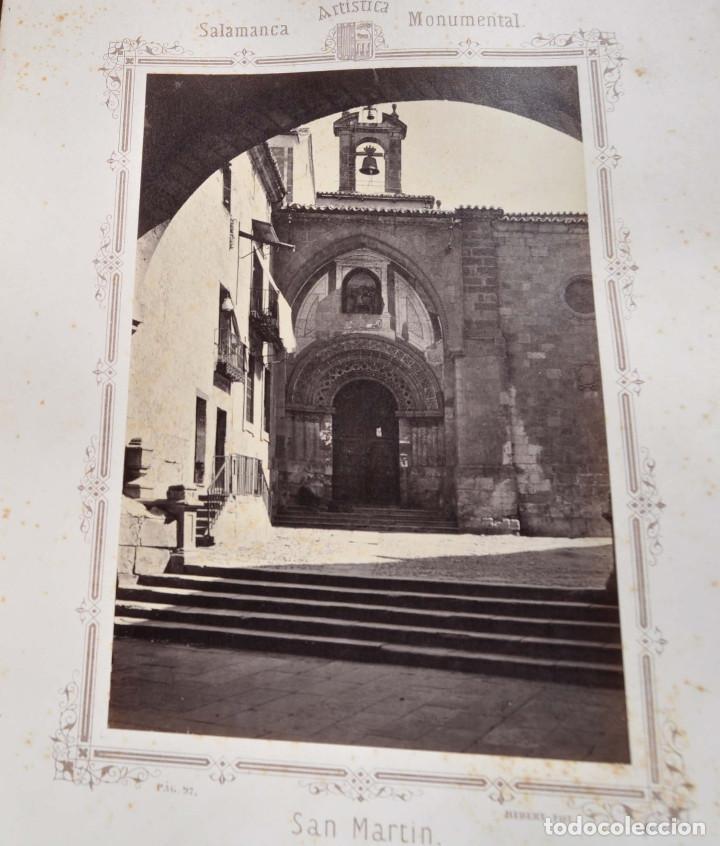 Fotografía antigua: SALAMANCA.- ARTISTICA Y MONUMENTAL 34 ABÚMINAS DEL FOTOGRAFO PEDRO MARTÍNEZ DE HEBERT. 32 X 25,5 CM - Foto 10 - 155927306