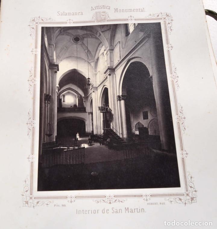 Fotografía antigua: SALAMANCA.- ARTISTICA Y MONUMENTAL 34 ABÚMINAS DEL FOTOGRAFO PEDRO MARTÍNEZ DE HEBERT. 32 X 25,5 CM - Foto 11 - 155927306