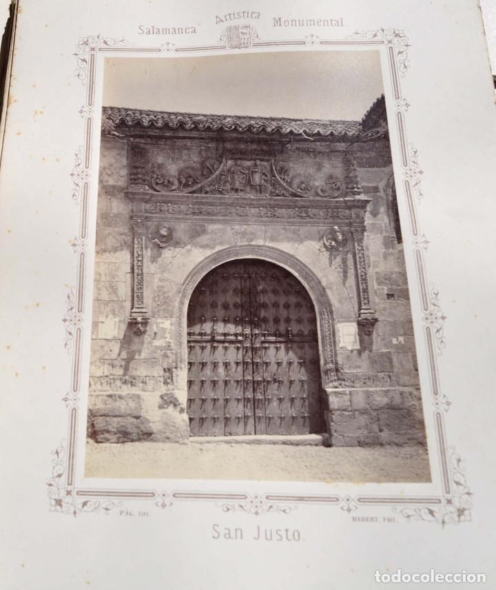 Fotografía antigua: SALAMANCA.- ARTISTICA Y MONUMENTAL 34 ABÚMINAS DEL FOTOGRAFO PEDRO MARTÍNEZ DE HEBERT. 32 X 25,5 CM - Foto 12 - 155927306