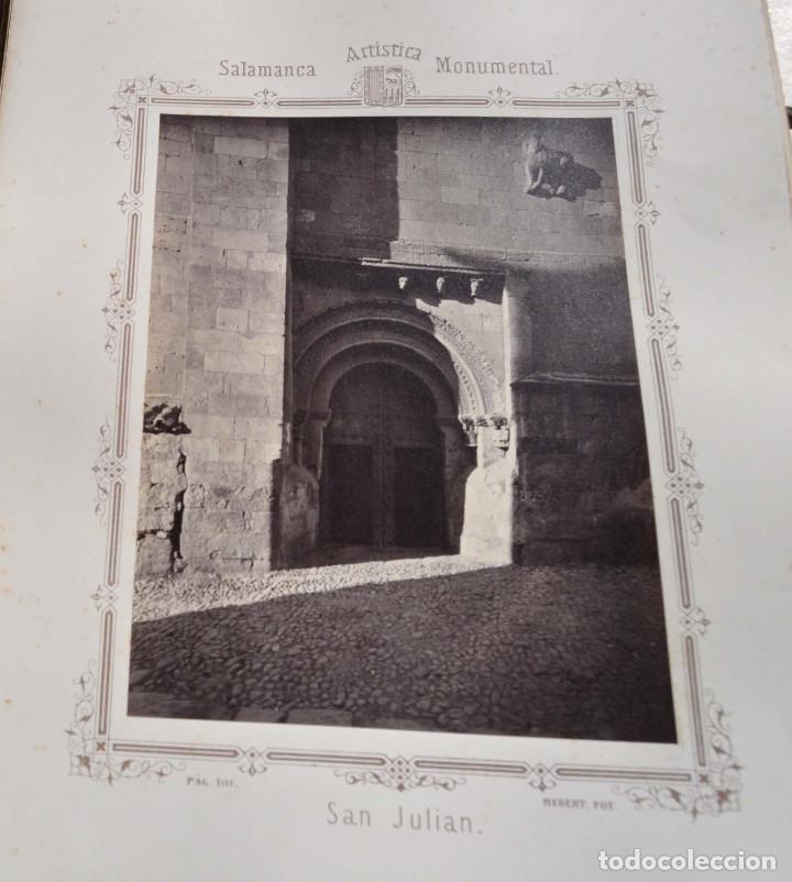 Fotografía antigua: SALAMANCA.- ARTISTICA Y MONUMENTAL 34 ABÚMINAS DEL FOTOGRAFO PEDRO MARTÍNEZ DE HEBERT. 32 X 25,5 CM - Foto 13 - 155927306