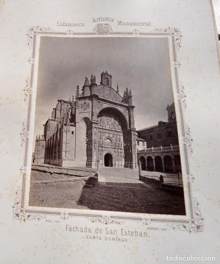 Fotografía antigua: SALAMANCA.- ARTISTICA Y MONUMENTAL 34 ABÚMINAS DEL FOTOGRAFO PEDRO MARTÍNEZ DE HEBERT. 32 X 25,5 CM - Foto 15 - 155927306