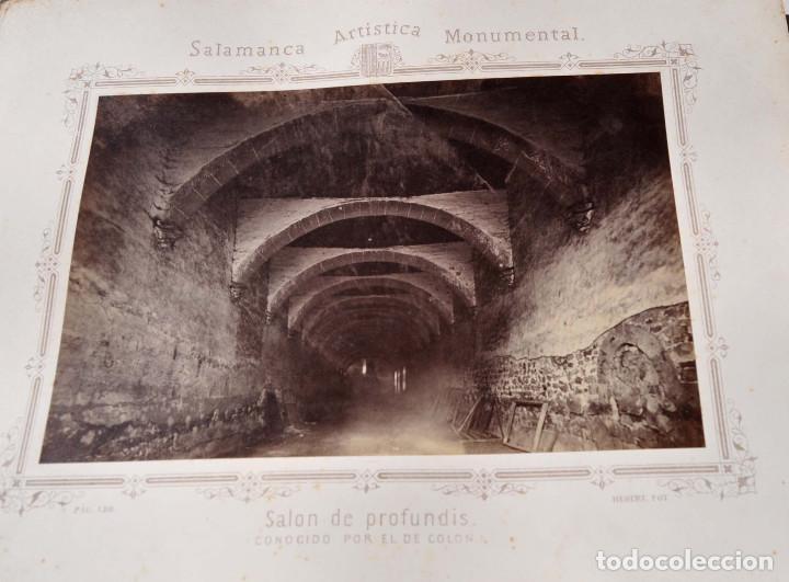 Fotografía antigua: SALAMANCA.- ARTISTICA Y MONUMENTAL 34 ABÚMINAS DEL FOTOGRAFO PEDRO MARTÍNEZ DE HEBERT. 32 X 25,5 CM - Foto 16 - 155927306