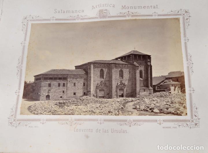 Fotografía antigua: SALAMANCA.- ARTISTICA Y MONUMENTAL 34 ABÚMINAS DEL FOTOGRAFO PEDRO MARTÍNEZ DE HEBERT. 32 X 25,5 CM - Foto 17 - 155927306
