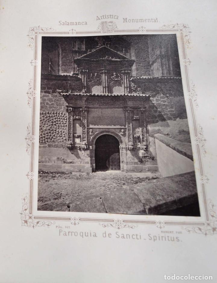 Fotografía antigua: SALAMANCA.- ARTISTICA Y MONUMENTAL 34 ABÚMINAS DEL FOTOGRAFO PEDRO MARTÍNEZ DE HEBERT. 32 X 25,5 CM - Foto 18 - 155927306