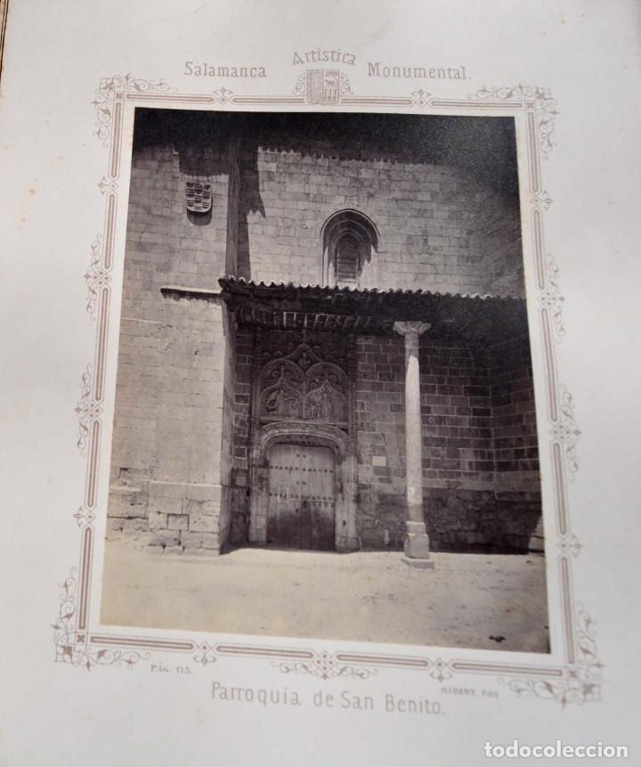 Fotografía antigua: SALAMANCA.- ARTISTICA Y MONUMENTAL 34 ABÚMINAS DEL FOTOGRAFO PEDRO MARTÍNEZ DE HEBERT. 32 X 25,5 CM - Foto 19 - 155927306