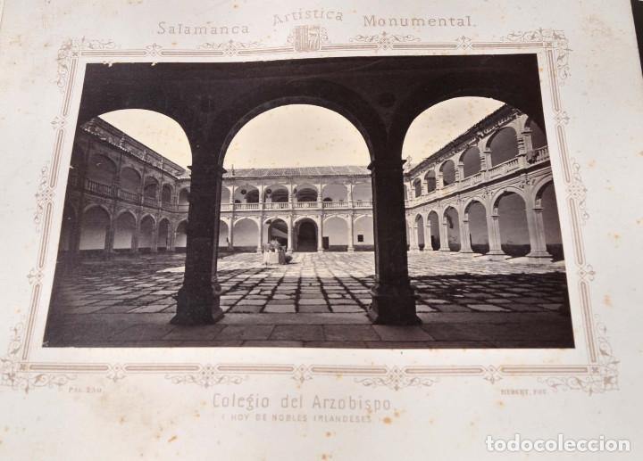 Fotografía antigua: SALAMANCA.- ARTISTICA Y MONUMENTAL 34 ABÚMINAS DEL FOTOGRAFO PEDRO MARTÍNEZ DE HEBERT. 32 X 25,5 CM - Foto 24 - 155927306