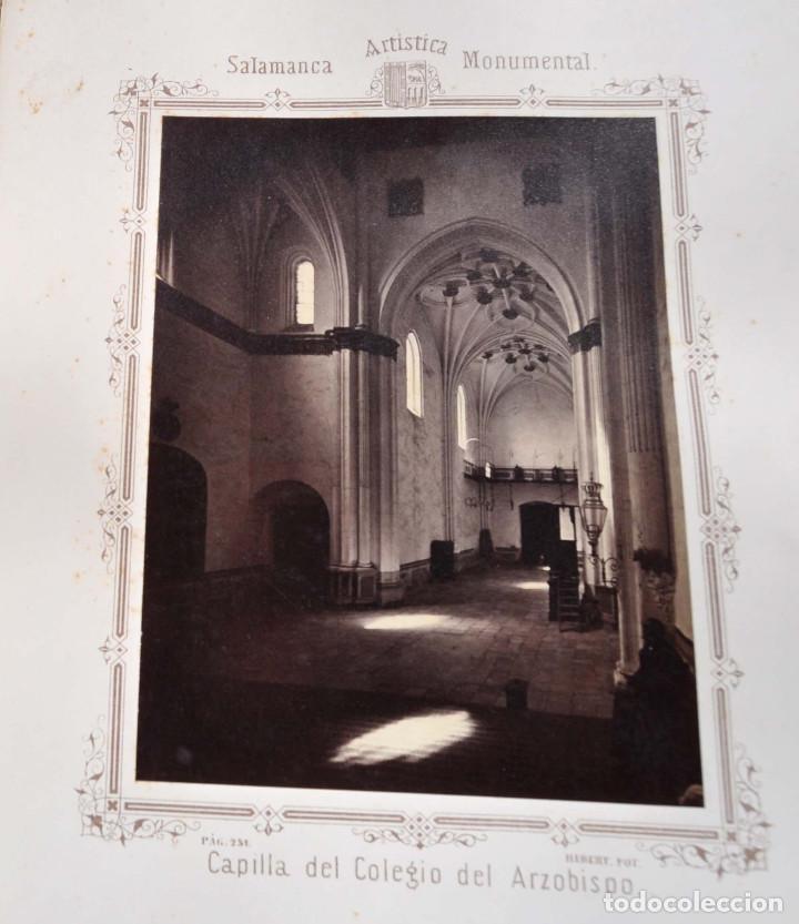 Fotografía antigua: SALAMANCA.- ARTISTICA Y MONUMENTAL 34 ABÚMINAS DEL FOTOGRAFO PEDRO MARTÍNEZ DE HEBERT. 32 X 25,5 CM - Foto 25 - 155927306