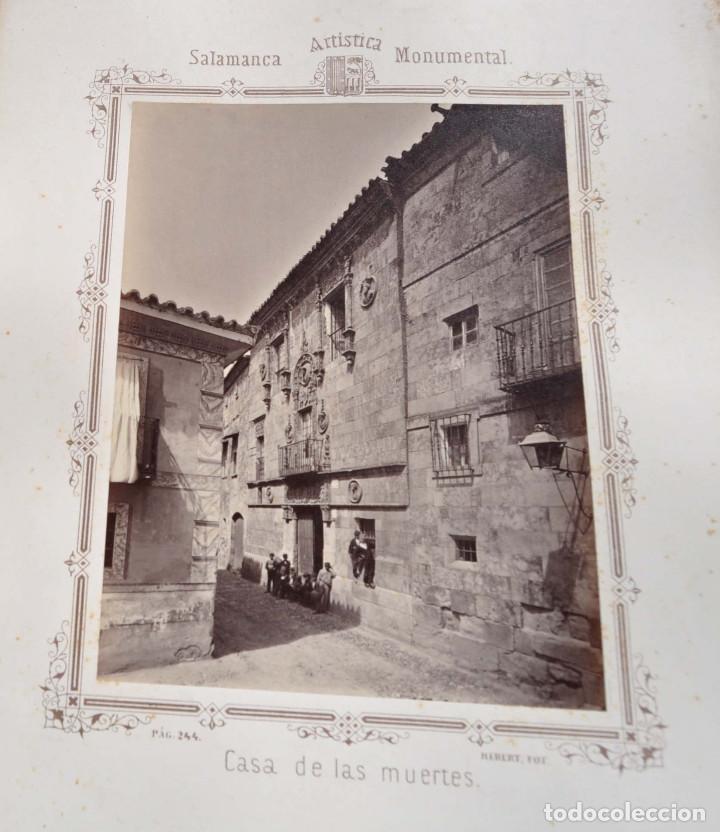 Fotografía antigua: SALAMANCA.- ARTISTICA Y MONUMENTAL 34 ABÚMINAS DEL FOTOGRAFO PEDRO MARTÍNEZ DE HEBERT. 32 X 25,5 CM - Foto 26 - 155927306