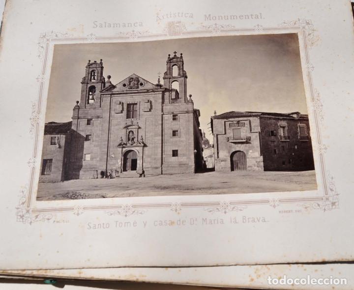 Fotografía antigua: SALAMANCA.- ARTISTICA Y MONUMENTAL 34 ABÚMINAS DEL FOTOGRAFO PEDRO MARTÍNEZ DE HEBERT. 32 X 25,5 CM - Foto 27 - 155927306