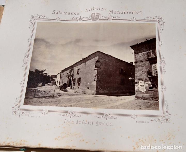 Fotografía antigua: SALAMANCA.- ARTISTICA Y MONUMENTAL 34 ABÚMINAS DEL FOTOGRAFO PEDRO MARTÍNEZ DE HEBERT. 32 X 25,5 CM - Foto 28 - 155927306
