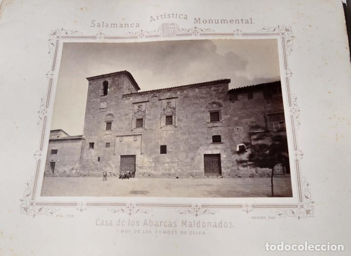 Fotografía antigua: SALAMANCA.- ARTISTICA Y MONUMENTAL 34 ABÚMINAS DEL FOTOGRAFO PEDRO MARTÍNEZ DE HEBERT. 32 X 25,5 CM - Foto 29 - 155927306
