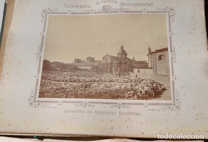 Fotografía antigua: SALAMANCA.- ARTISTICA Y MONUMENTAL 34 ABÚMINAS DEL FOTOGRAFO PEDRO MARTÍNEZ DE HEBERT. 32 X 25,5 CM - Foto 32 - 155927306