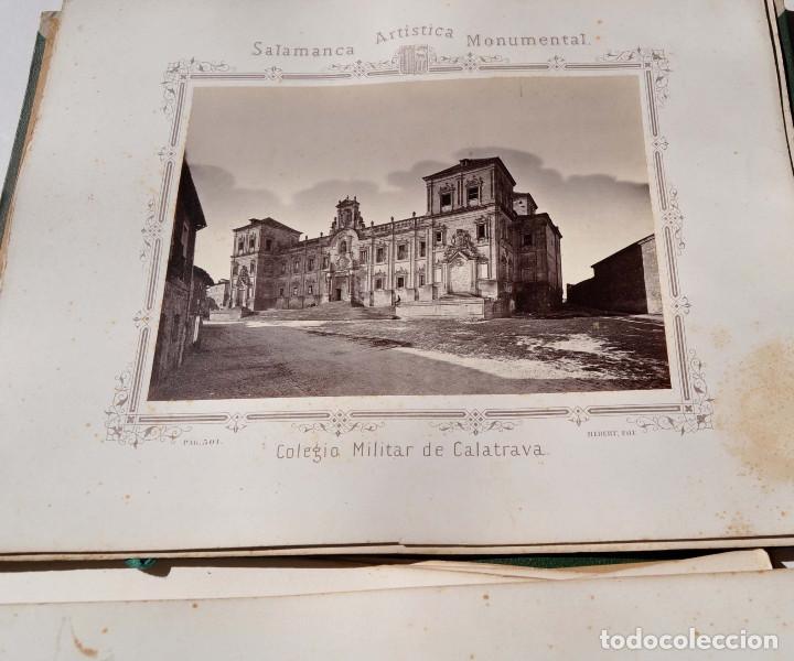 Fotografía antigua: SALAMANCA.- ARTISTICA Y MONUMENTAL 34 ABÚMINAS DEL FOTOGRAFO PEDRO MARTÍNEZ DE HEBERT. 32 X 25,5 CM - Foto 36 - 155927306
