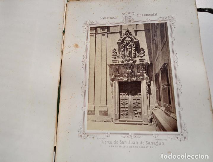 Fotografía antigua: SALAMANCA.- ARTISTICA Y MONUMENTAL 34 ABÚMINAS DEL FOTOGRAFO PEDRO MARTÍNEZ DE HEBERT. 32 X 25,5 CM - Foto 38 - 155927306
