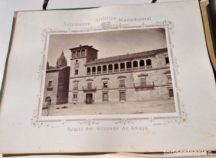 Fotografía antigua: SALAMANCA.- ARTISTICA Y MONUMENTAL 34 ABÚMINAS DEL FOTOGRAFO PEDRO MARTÍNEZ DE HEBERT. 32 X 25,5 CM - Foto 39 - 155927306