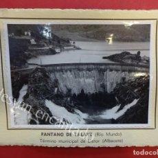 Fotografía antigua: PANTANO DE TALAVE (RÍO MUNDO) LIETOR (ALBACETE) 1953. FOTO CON CARACTERÍSTICAS AL DORSO. Lote 156513606
