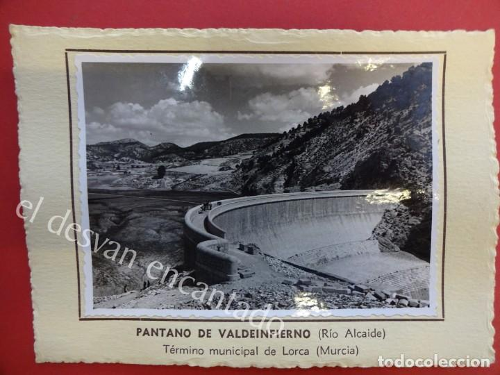 PANTANO DE VALDEINFIERNO. (RÍO ALCAIDE) LORCA (MURCIA)1953. FOTO CON CARACTERÍSTICAS AL DORSO (Fotografía Antigua - Albúmina)