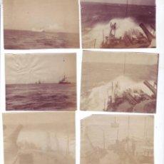 Fotografía antigua: LOTE DE 6 FOTOGRAFÍAS EN ALBÚMINA BARCOS DE GUERRA (FINALES SIGLO XIX - PRINCIPIOS SIGLO XX). Lote 156700998