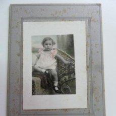 Fotografía antigua: FOTOGRAFÍA ANTIGUA ORIGINAL COLOREADA. NIÑA. VALLS. (23 X 15,5 CM). Lote 156987954