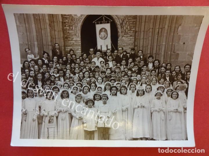 PARROQUIA DE LA CONCEPCIÓN. BARCELONA. MAYO DE 1940. FOTO 12 X 9 CTMS. (Fotografía Antigua - Albúmina)