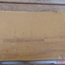 Fotografía antigua: FOTO FOTOGRAFIA ALBUMINA CRUCERO ISLA DE CUBA 1987 DESPUES DE SER COMPLETADO EN UN PUERTO INGLES. Lote 157008170