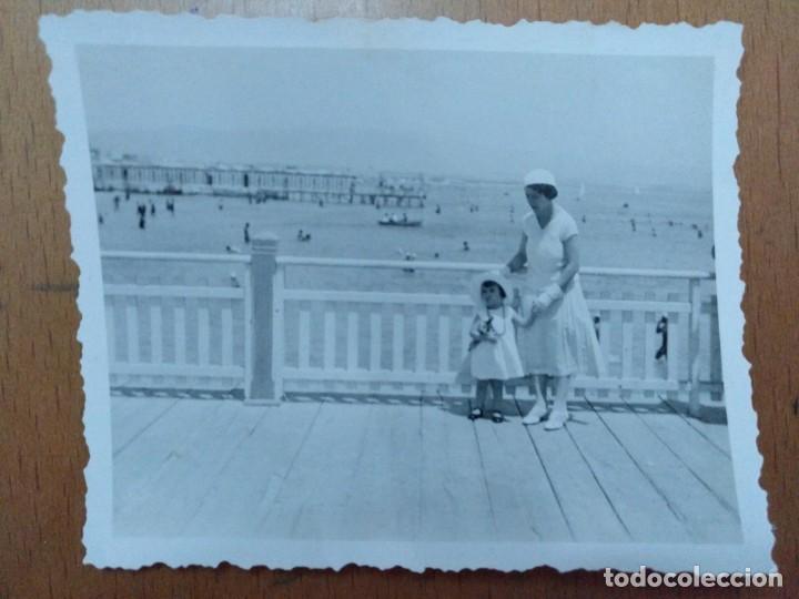 FOTO DEL LIDO DE CAGLIARI (CERDEÑA - ITALIA) 1933 8 X 6,5 CM (APROX) (Fotografía Antigua - Albúmina)