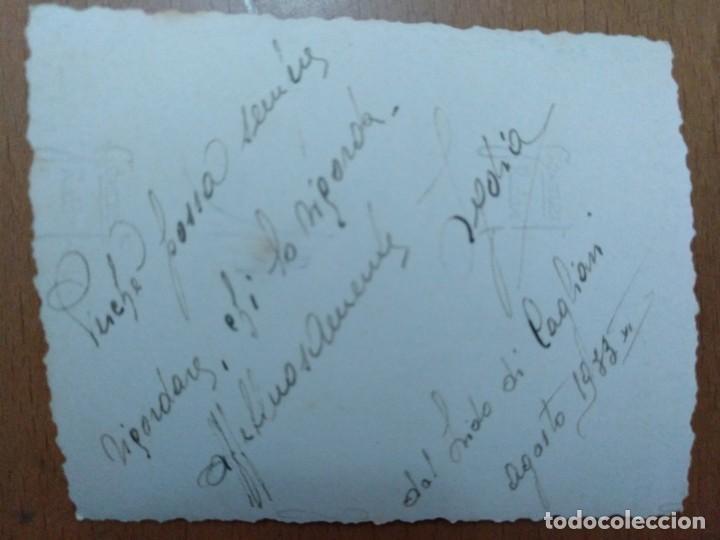 Fotografía antigua: FOTO DEL LIDO DE CAGLIARI (CERDEÑA - ITALIA) 1933 8 X 6,5 CM (APROX) - Foto 2 - 157342114