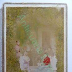 Fotografía antigua: FOTOGRAFÍA ANTIGUA ORIGINAL. COLOREADA. FAMILIA. (18 X 13 CM). Lote 158255834