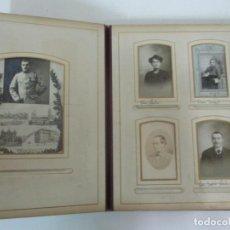 Fotografía antigua: ANTIGUO ÁLBUM FOTOGRÁFICO - ALBÚMINA - CON ALGUNAS FOTOS DE MILITAR FRANCES - DIFERENTES FOTÓGRAFOS. Lote 158788214