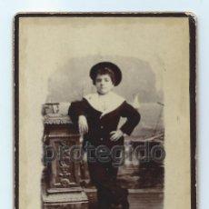 Fotografía antigua: RETRATO. NIÑO. FOTÓGRAFO JOSÉ VTE. OLIVARES. CARTAGENA, MURCIA. 26 DE DICIEMBRE DE 1895. Lote 158805798