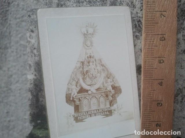 Fotografía antigua: IMAGEN VIRGEN DE TÍSCAR, QUESADA (JAÉN) EXCEPCIONAL FOTOGRAFÍA ALBÚMINA - TARJETA TIPO CDV CA., 1899 - Foto 2 - 158949926
