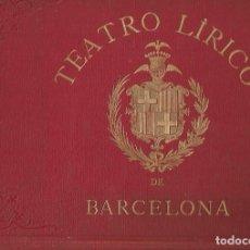 Fotografía antigua: ALBUM DE VISTAS DEL TEATRO LIRICO DE BARCELONA 1884 SOCIEDAD HELIOGRAFICA. Lote 159266678
