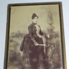 Fotografía antigua: FOTOGRAFIA ALBUMINA DE S.XIX DEL RETRATISTA JOSEPH VASSEROT, MIDE 16,5 X 10,5 CMS.. Lote 159494026