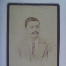 Fotografía antigua: RETRATO DE SEÑOR DEL SIGLO XIX . DE IBAÑEZ E HIJO , VERACRUZ ( MEXICO ), 1893. Lote 159565450