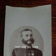 Fotografía antigua: FOTOGRAFIA ALBUMINA DEL REY ALFONSO XII, 1880 APROX, MIDE 12,5 X 7,5 CMS. Lote 159822918