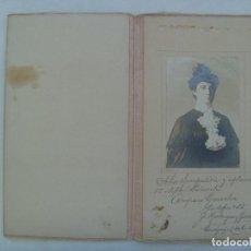 Fotografía antigua: PRECIOSO RETRATO DE SEÑORITA , EN ESTUCHE CON FLOR , ¡¡ VER !! ... GUAYAQUIL ( ECUADOR ), 1907. Lote 160071646