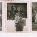 Fotografía antigua: TRES PEQUEÑAS FOTOS DE UNA FALLA AÑOS 40.. Lote 160629530